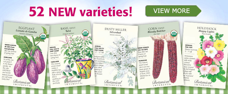 Click Here to Shop a Wonderful Selection of Heirloom, Organic and Non-GMO Vegetable, Herb and Flower Seeds at Botanical Interests and Support The Garden Oracle with Your Purchases!