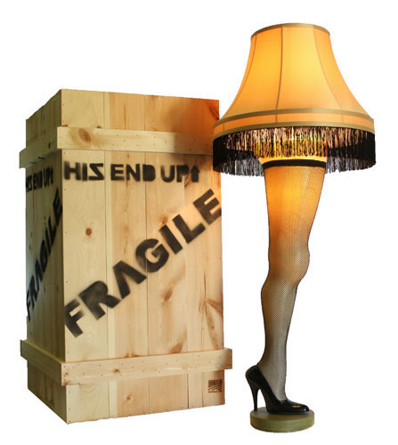 Leg Lamp from A Christmas Story