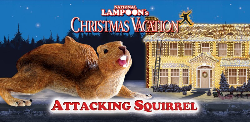 Christmas Vacation Attacking Squirrel