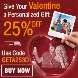 Give your valentine a unique personalized gift 25% off with code: GETA253D
