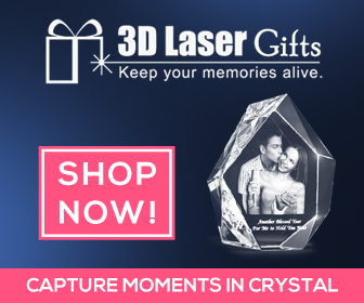 3D Laser Gifts Capture Moments in Crystal