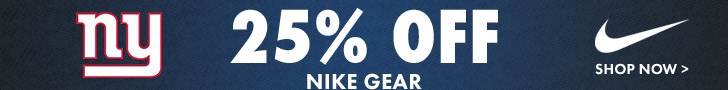 IT'S BACK! Get Up To 25% Off Giants Nike & Under Armour Gear!
