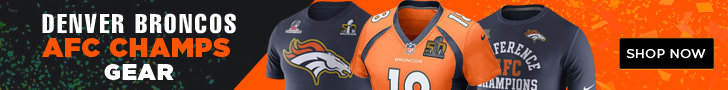 Get Official Denver Broncos AFC Champs Gear!