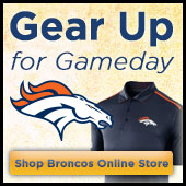 Gear up for Gameday at the official online store of the Denver Broncos!