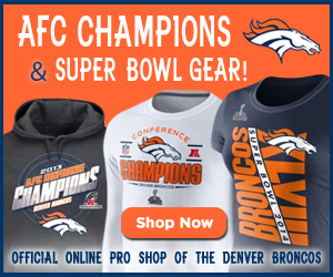 Shop AFC Champions and Super Bowl gear at the official online Pro Shop of the Denver Broncos!