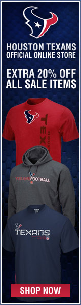 Save 20% over sale pricing at the Official Houston Texans Team Store