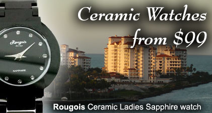 Beautiful ceramic watches for men and women at Gems4Me.com