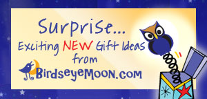 Surprise...Exciting NEW Gift Ideas from BirdsEyeMoon.com
