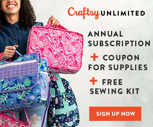 Ultimate Sewing Package - Only $120! Includes an annual Craftsy Unlimited subscription, a $25 coupon for supplies and a free sewing kit. Valid at Craftsy.com 6/20-6/24/18.