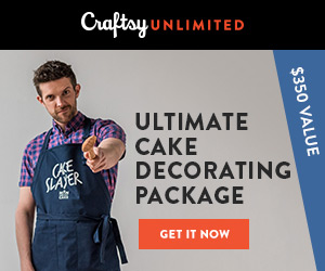 The Ultimate Cake Decorating Package: Get a year of Craftsy Unlimited, a free bundle of supplies & tons of perks, all for only $120 at Craftsy.com 4/28/18 only.