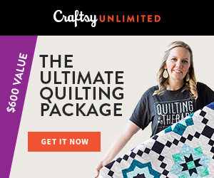 The Ultimate Quilting Package - Only $120 at Craftsy.com! Get a year of Craftsy Unlimited, a free quilt kit and tons of perks, all for only $120 6/13-6/23/18!