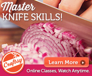 Take a knife skills class at Craftsy