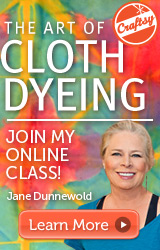 art of cloth dyeing online class at craftsy.com