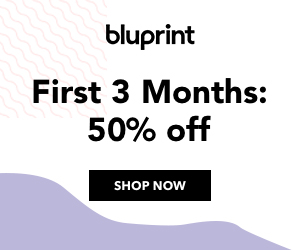 50% Off First 3 Months Bluprint Subscription at mybluprint.com through 4/1/19.