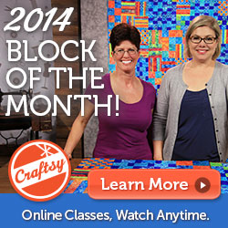 FREE Block of the Month class at Craftsy.com