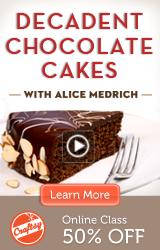 Online Chocolate Cake Class