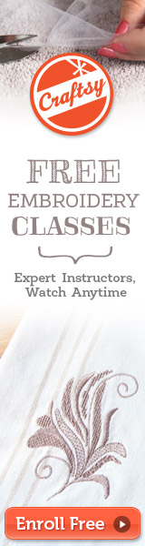 free crafts classes embroidery