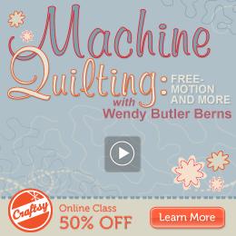 Online Machine Quilting Class