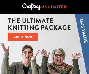 The Ultimate Knitting Package: Get a year of Craftsy Unlimited, a free knit kit and tons of perks, all for only $120! Valid 4/21-4/28/18 at Craftsy.com