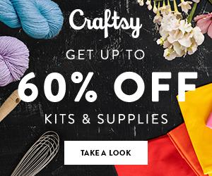 Get Up To 60% Off Kits & Supplies at Craftsy.com 4/19-4/22/18.