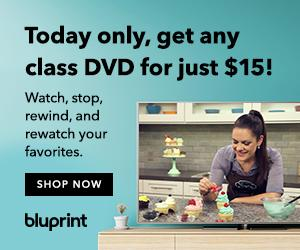 Bluprint Classes On DVD Just $15 Today! No coupon needed. Valid at shop.myBluprint.com on 1/27/19 only.