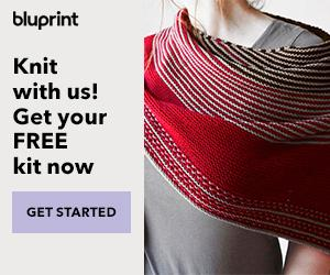 Ultimate Knit Package - Free Knit Kit + 12 FREE Own-Forever Classes With Annual Bluprint Subscription through 3/13/19 at myBluprint.com.