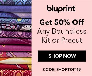 50% Off 1 Bluprint Exclusive Quilting Item with code SHOPTOIT19 at shop.mybluprint.com through 6/16/19.