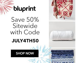 Bluprint Members Only - Save 50% On All Kits & Supplies Sitewide with code JULY4TH50 at shop.mybluprint.com 7/4-7/8/19.