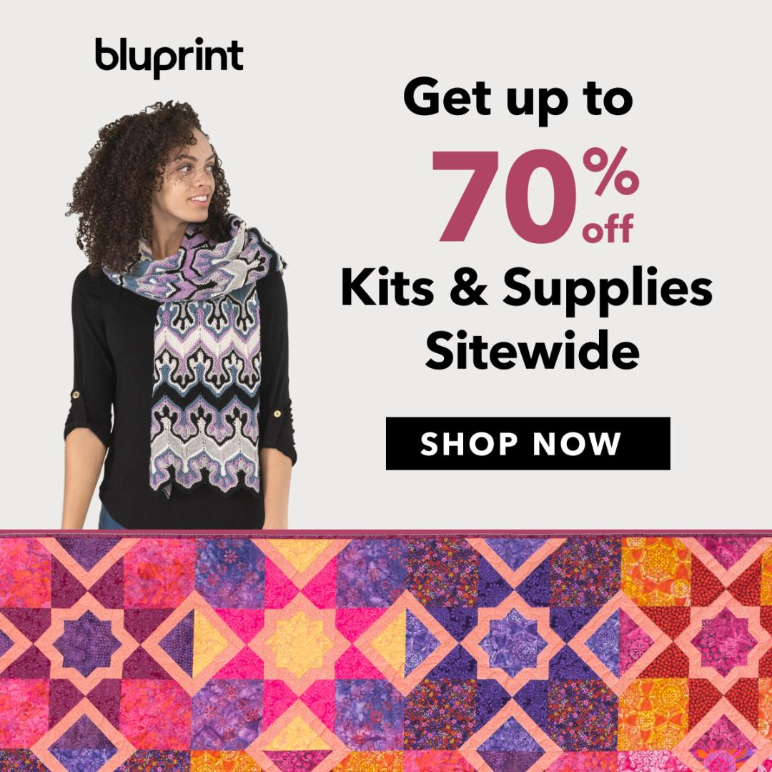 Up To 70% Off Kits & Supplies at shop.mybluprint.com 8/1-8/4/19.