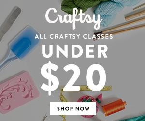 All Craftsy Classes Under $20 at Craftsy.com 5/4-5/6/18. No coupon code needed.