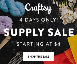 Supplies Starting At $4 at Craftsy.com through 6/17/18. Find great deals on the supplies & tools you need for next project.