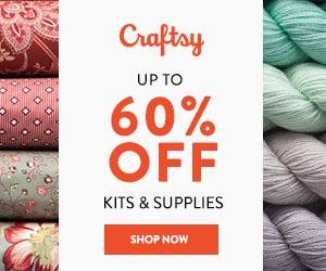 Up To 60% Off Kits & Supplies at Craftsy.com 8/24/18. No coupon code needed.
