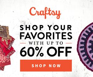 Up To 60% Off Supplies at Craftsy.com through 11/8/18. No coupon code needed.
