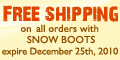 $5 shipping fees on all orders with SNOW BOOTS on Amberette.com