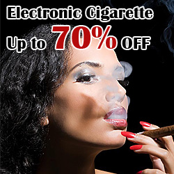 Up to 70% OFF Electronic Cigarettes + Free shipping