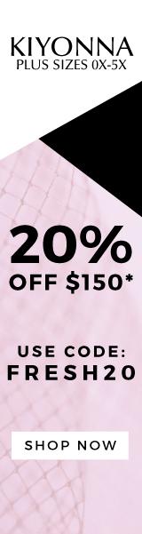 20% off $150 with code FRESH20 - Kiyonna, plus size, plus-sizes, plus-size, plus sizes, plus-sized, plus sized, large size, full figured, 0x, 1x, 2x, 3x, 4x, 5x, 10,12,14,16,18, 20, 22, 24, 26, 28, 30, 33