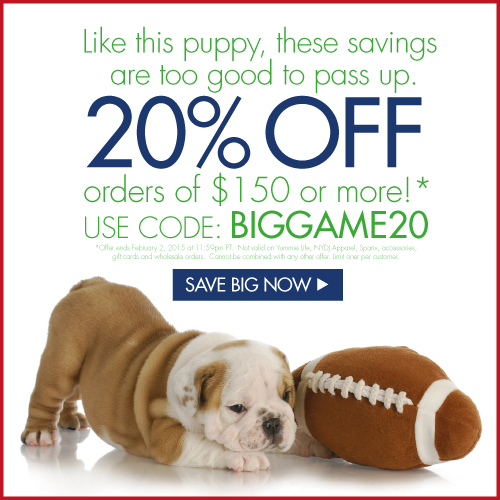 Big Game 20% Off
