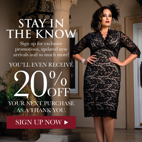 Sign up and save! at kiyonna fashions