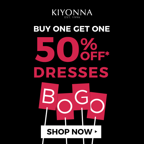 BOGO -Buy One Get One 50% Dresses - no code needed made in the USA