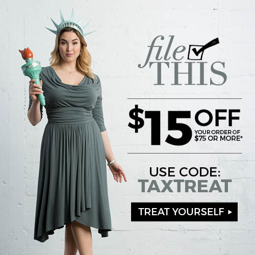 Tax Treat Offer-plussize clothing fashions