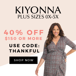 40% OFF $150+ | Use code THANKFUL at checkout.,Black Friday, Black Friday Deals, plus size cocktail dresses, kiyonna, plus size, plus sizes, plus size dresses, plus size tops, plus size gowns, plus size formal dresses, plus size women's clothing, plus size women's fashion