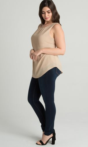 Simple Style,Callista Crepe Tank,Callista Crepe Tank  Callista Crepe Tank is the perfect transitional piece for your closet. Whether you're layering for the office or looking for a top you can toss on with a pair of jeans, you'll never run out of options. Designed with lightweight bubble crepe fabric, our tank offers some stretch and has a loose fit for comfort. For a polished office look, pair this tank with a blazer. For a weekend date day, pair with jeans and your favorite sandals. Made in the USA