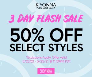 3DayFlash AdPurple 03 - 50% Off Select Styles (No Code Needed)