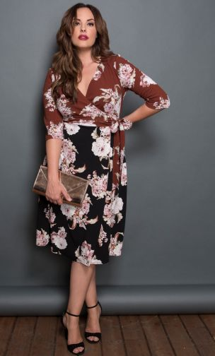 Print Dress,Wendy Wrap Dress