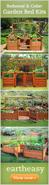 Redwood and Cedar Garden Bed Kits - Eartheasy.com