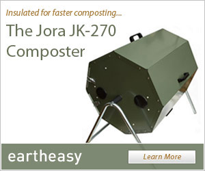 The dual chamber insulated Jora JK270 compost tumbler. Buy it at Eartheasy.com