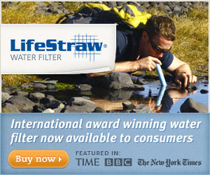 The Award Winning LifeStraw Personal Water Filter
