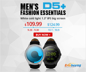 Everbuying Men's D5+ Fashion Smart Watch: $109.99 Only
