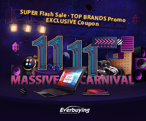 Everbuying 11.11 Massive Carnival(11.4- 11.18): Super flash sale, top brand promo, exclusive coupon