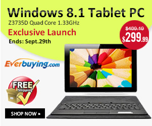 Exclusive Launch: Save Up to $109 for the Windows 8.1 Tablet PC! (Ends: Sept.29th)